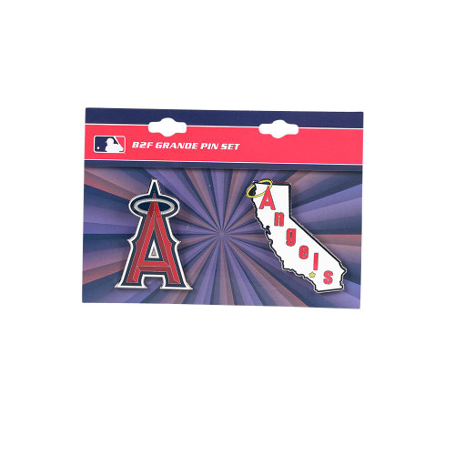 "Los Angeles Angels MLB Jumbo Grande 2"" Lapel Pin Set of 2 (Current and Retro Logos)"