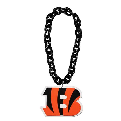 Cincinnati Bengals NFL Touchdown Fan Chain 10 Inch 3D Foam Magnet Necklace Black