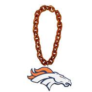 Denver Broncos NFL Touchdown Fan Chain 10 Inch 3D Foam Magnet Necklace Orange