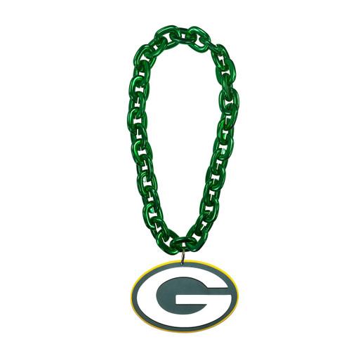 Green Bay Packers NFL Touchdown Fan Chain 10 Inch 3D Foam Magnet Necklace Green