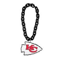 Kansas City Chiefs NFL Touchdown Fan Chain 10 Inch 3D Foam Magnet Necklace Black