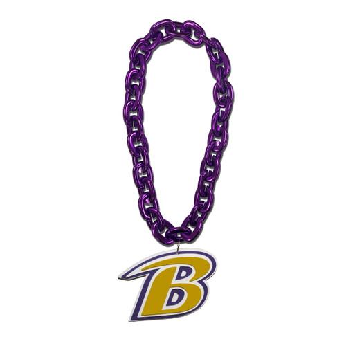 Baltimore Ravens NFL Touchdown Fan Chain 10 Inch 3D Foam Magnet Necklace - Purple