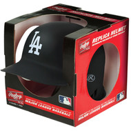 Los Angeles Dodgers Matte Black MLB Rawlings Replica MLB Baseball Mini Helmet