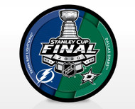 2020 NHL Stanley Cup Final - Tampa Bay Lightning vs. Dallas Stars Dueling Souvenir Puck