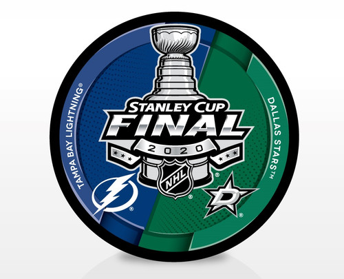 2020 NHL Stanley Cup Final - Tampa Bay Lightning vs. Dallas Stars Dueling Souvenir Puck