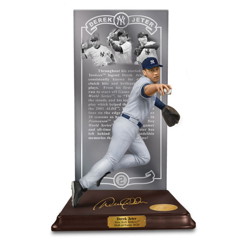 DEREK JETER HALL OF FAME LIMITED COLLECTORS EDITION SCULPTURE by Danbury Mint