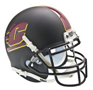 Central Michigan Chippewas Alternate Matte Black Schutt Mini Authentic Helmet