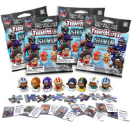 Party Animal NFL TeenyMates SERIES 9 SILVER SERIES Figurines Mystery Packs (4 Packs)