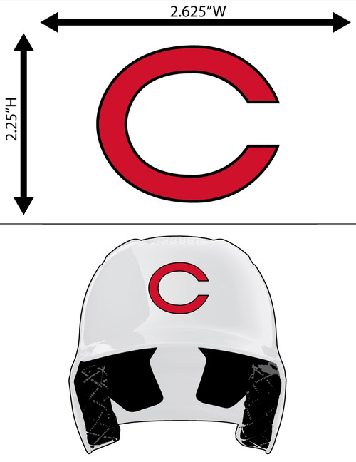 CINCINNATI REDS Red with Black Outline FULL SIZE HELMET 3M STICKER DECAL