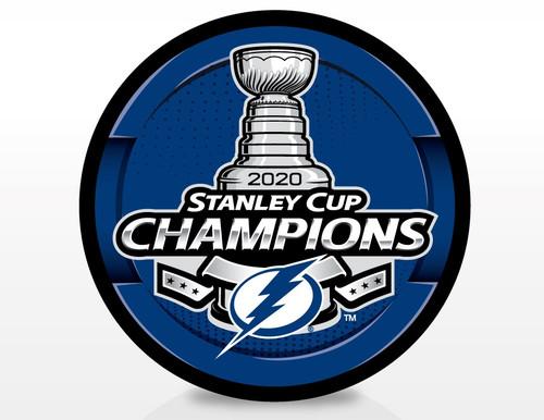 2020 NHL Stanley Cup Champions Tampa Bay Lightning Souvenir Puck