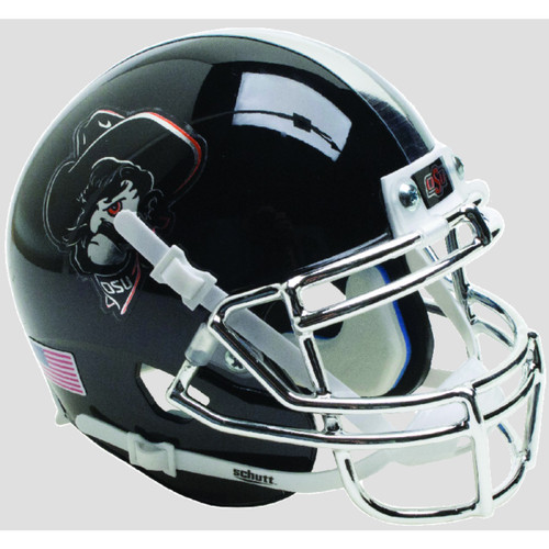 Oklahoma State Cowboys Black Icy Pistol Pete Schutt Mini Authentic Football Helmet