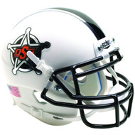 Oklahoma State Cowboys White Badge Schutt Mini Authentic Football Helmet