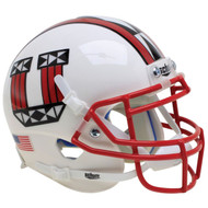 Utah Utes White with Red Mask Schutt Mini Authentic Football Helmet