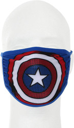 Captain America Marvel Adult Size Fabric Face Cover Guard Mask Facemask