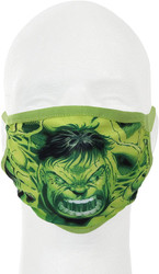 Hulk Marvel Adult Size Gathered Fabric Face Cover Guard Mask Facemask