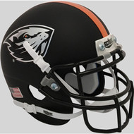 Oregon State Beavers Matte Black Schutt Mini Authentic Football Helmet