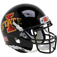 Iowa State Cyclones Black with Red Decal Schutt Authentic Mini Football Helmet