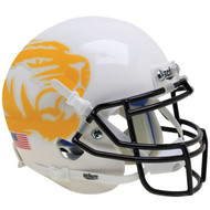 Missouri Tigers Alternate White Yellow Tiger Schutt Mini Authentic Football Helmet