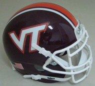 Virginia Tech Hokies Maroon Beamer Schutt Mini Authentic Football Helmet