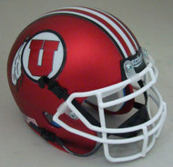 Utah Utes Alternate Satin Red with White Mask Schutt Mini Authentic Football Helmet