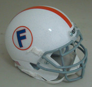Florida Gators Alternate White with Orange Stripe Schutt Mini Authentic Football Helmet