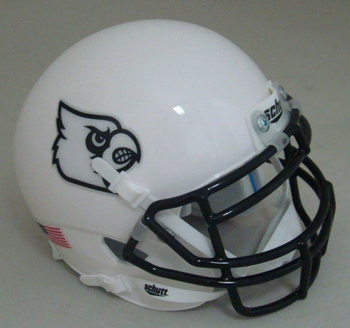 Louisville Cardinals Black Mask Schutt Mini Authentic Football Helmet