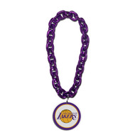 Los Angeles Lakers NBA Fan Chain 10 Inch 3D Foam Magnet Necklace