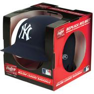 New York Yankees Matte Navy Blue MLB Rawlings Replica Baseball Mini Helmet