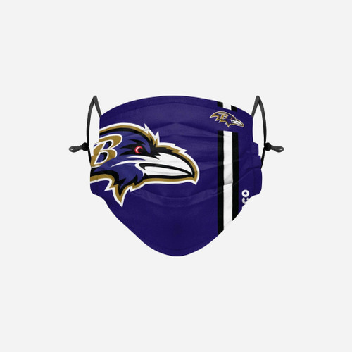 Baltimore Ravens NFL Official On-Field Sideline Logo Team Face Mask Cover Facemask