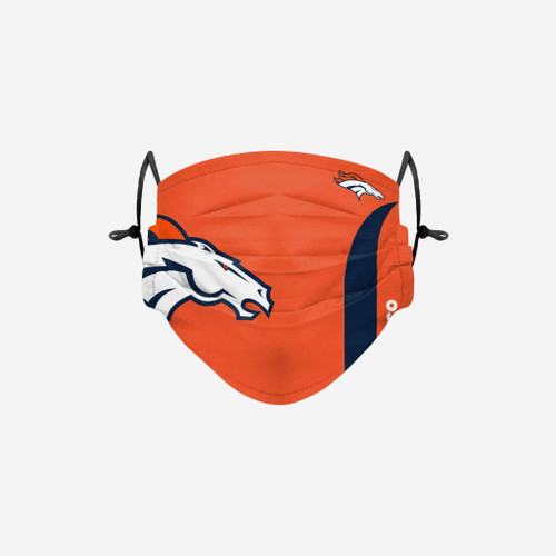 Denver Broncos NFL Official On-Field Sideline Logo Team Face Mask Cover Facemask
