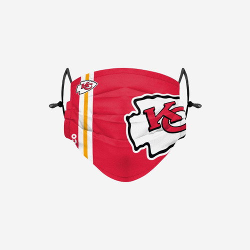 Kansas City Chiefs NFL Official On-Field Sideline Logo Team Face Mask Cover Facemask