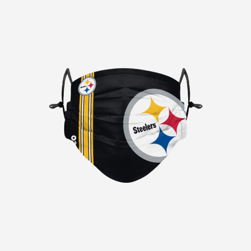 Pittsburgh Steelers NFL Official On-Field Sideline Logo Team Face Mask Cover Facemask