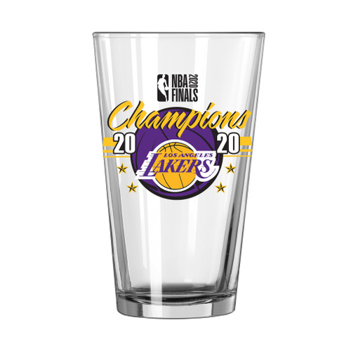Los Angeles Lakers NBA Champions 16 oz. Pint Beer Glass