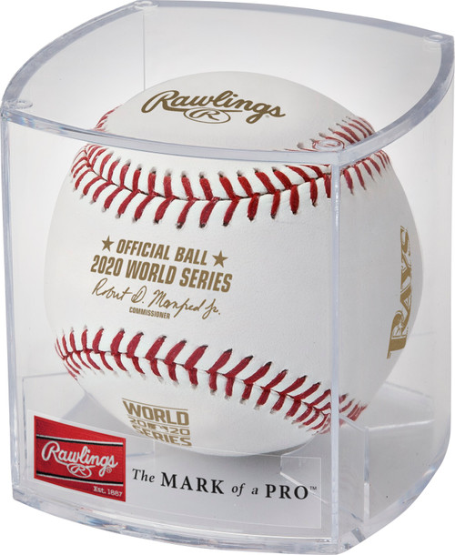 Rawlings 2020 Official World Series Dueling Baseball in Cube - Tampa Bay Rays vs. Los Angeles Dodgers