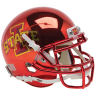 Iowa State Cyclones Red Chrome Schutt Authentic Mini Football Helmet