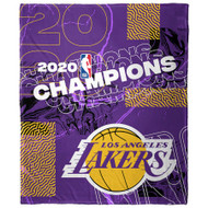 "Los Angeles Lakers The Northwest Company 2020 NBA Finals Champions 50"" x 60"" Silk Touch Throw Blanket"