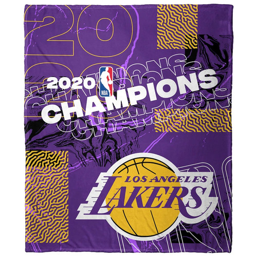 """Los Angeles Lakers The Northwest Company 2020 NBA Finals Champions 50"""" x 60"""" Silk Touch Throw Blanket"""