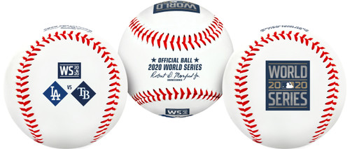2020 World Series Dueling Souvenir Collectible Replica Baseball by Rawlings - Los Angeles Dodgers vs. Tampa Bay Rays