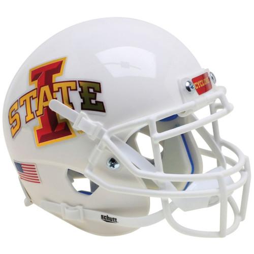Iowa State Cyclones White Schutt Authentic Mini Football Helmet
