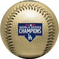 2020 MLB World Series Los Angeles Dodgers Champions Gold Collectible Souvenir Replica Baseball by Rawlings