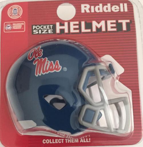 Mississippi Old Miss Rebels Alternate Blue Revolution Mini Pocket Pro Football Helmet