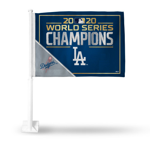 Los Angeles Dodgers 2020 World Series Champions Car Flag