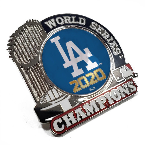 2020 Los Angeles Dodgers World Series Champions Trophy Lapel Pin