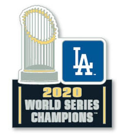 Los Angeles Dodgers 2020 World Series Champions Commemorative Trophy Lapel Pin
