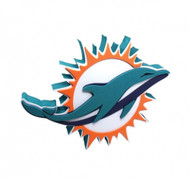 Miami Dolphins 3D Fan Foam Logo Sign