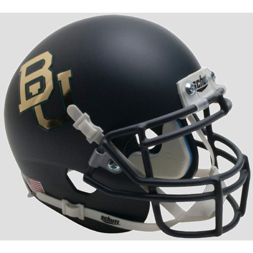 Baylor Bears Matte Anthracite Chrome Decal Schutt Mini Authentic Football Helmet