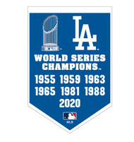 Los Angeles Dodgers 7 time World Series Champions Dynasty Banner Refrigerator Magnet