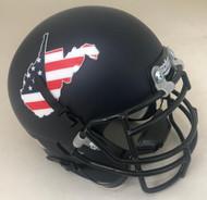 West Virginia Mountaineers Flag Schutt Authentic Mini Football Helmet