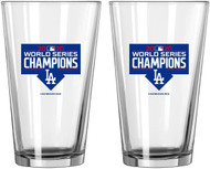 Los Angeles Dodgers 2020 World Series Champions Official 16 oz. Pint Beer Glass