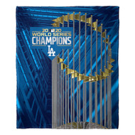 "Los Angeles Dodgers The Northwest Company 2020 World Series Champions 50"" x 60"" Silk Touch Throw Blanket"